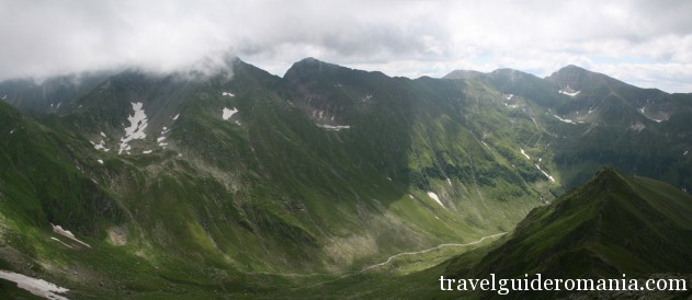 Fagaras mountains - view from Capra lake