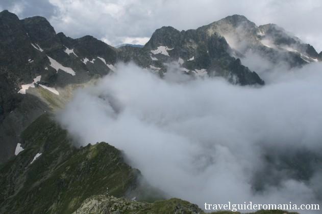 Negoiu peak in Fagaras mountains