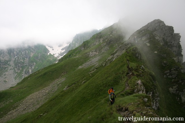 Trail in Fagaras mountains - Hiking in Romania