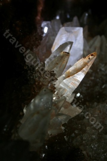 Caves in Apuseni mountains - Crystal cave from Farcu mine