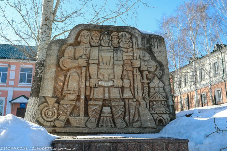 The monument to the founders of city of Saransk in Russia
