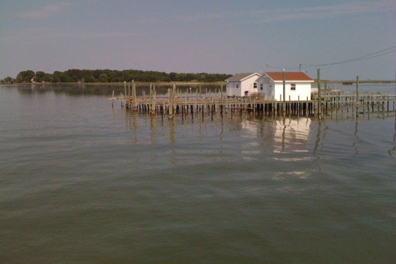 Entrance into Tangier Island, Virginia