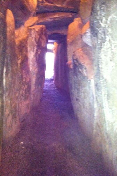 Newgrange Entrance Passage as seen when leaving the tomb