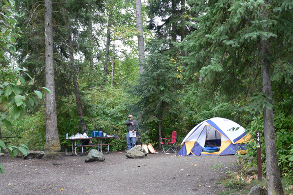 Campsite on Whitefish Lake - Montana