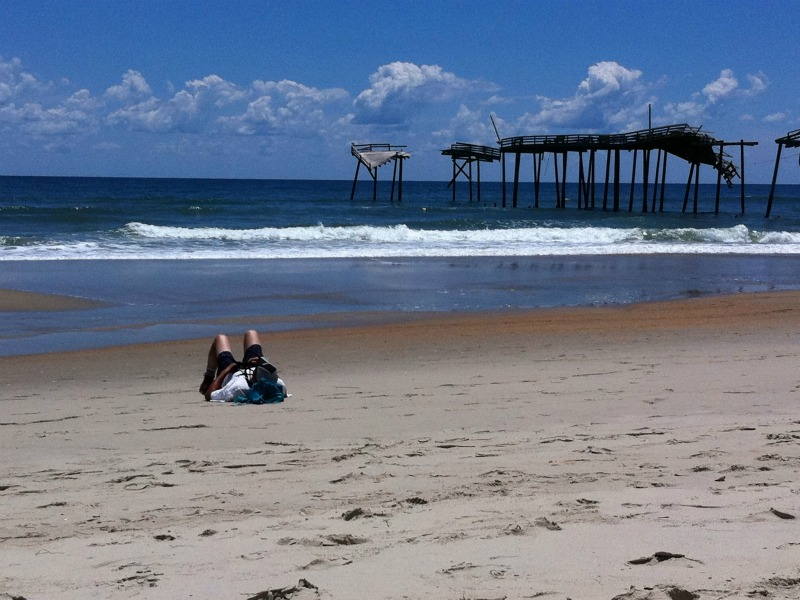 Beach at Hatteras Pier - Outer Banks NC
