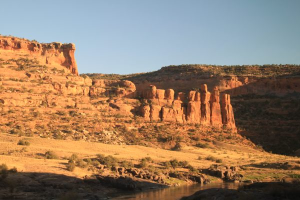 Canyon in Colorado seen by train
