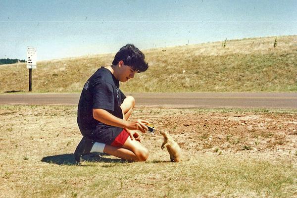 Daniel Feeding the Prairie Dogs