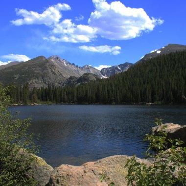 Bear Lake, formed by ice age glaciers - Colorado