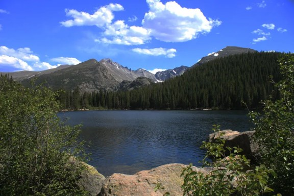 Bear Lake, formed by ice age glaciers - Colorado