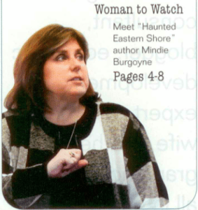 Mindie Burgoyne in Shore Woman magazine