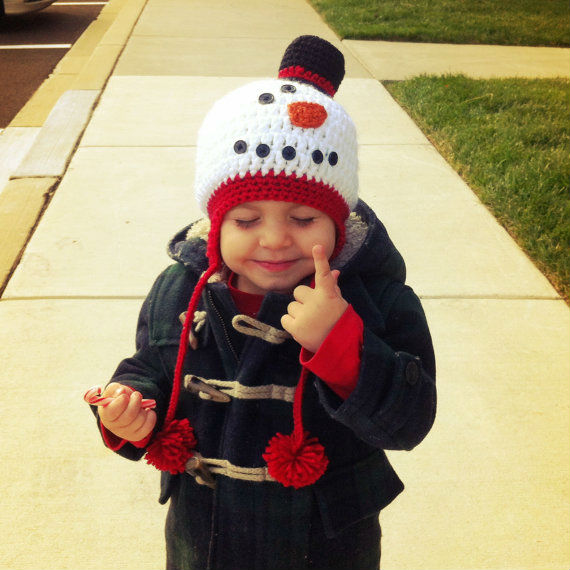 Homemade Snow Man Hat - from Lara English's Etsy Shop