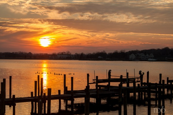 Sunset over Chestertown, Maryland