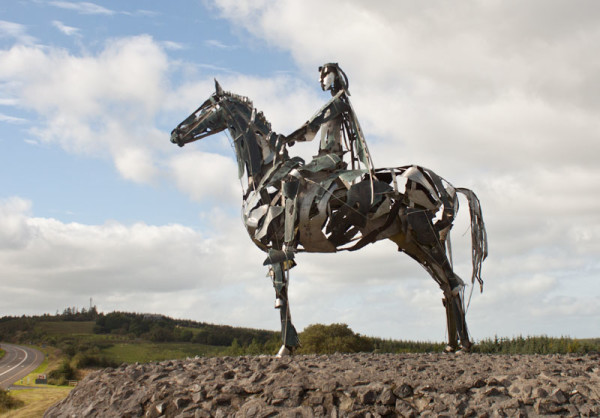 The Gaelic Chieftain scultped by Maurice Harron - Co. Roscommon