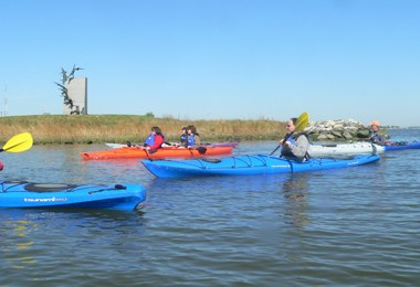 Kayaks on Choptank - Mindie Burgoyne