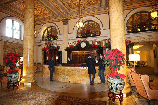 The Front Desk in the Willard Lobby
