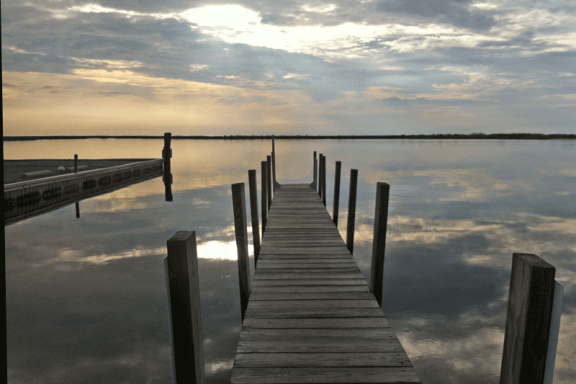 Pier on Coulbourne Creek in Marion Station - Somerset County, MD