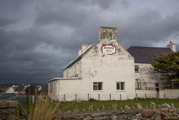 Amethyst Hotel on Achill Island, was once a thriving resort.