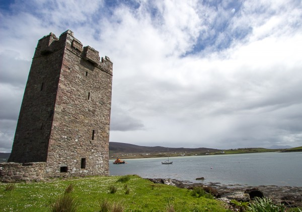 Kildavnet Castle on Achill Island, once owned by Grainne O'Malley