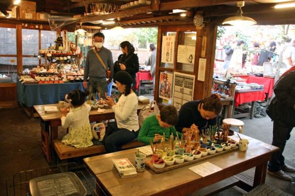 深大寺窯の陶芸体験,楽焼,本焼き
