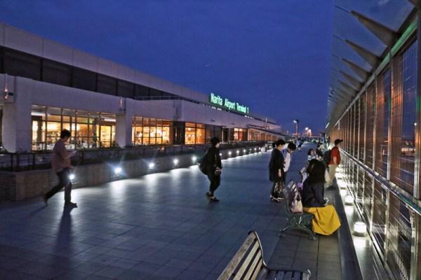 成田空港第1ターミナル5階の展望台