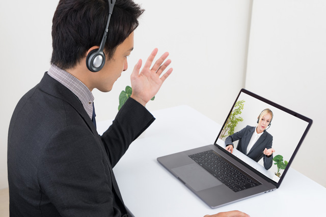 オンライン学習のイメージ、英会話