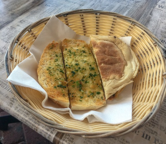 Bolo do caco: Madeiran garlic bread.