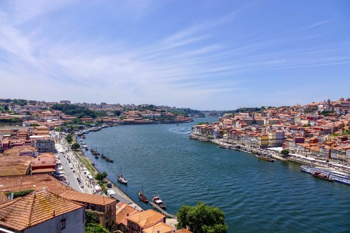 The Douro River, from the Dom Luís I bridge.