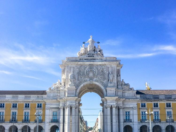Lisbon landmarks, Rua Augusta Arch, Commerce Square
