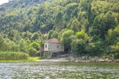 An ancient waterfront home on Lake Skadar.