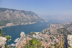 The Bay of Kotor with Stari Grad in the foreground; view from St. John's Fortress.