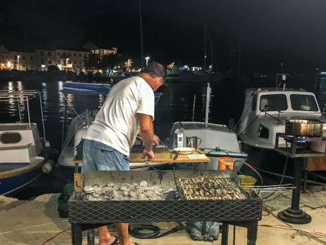 Grilled sardines - a local specialty!