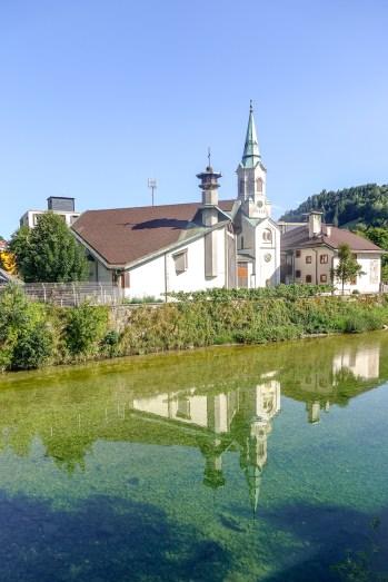 The Parish Church of Sv. Jožef (St. Joseph). Idrija, Slovenia.