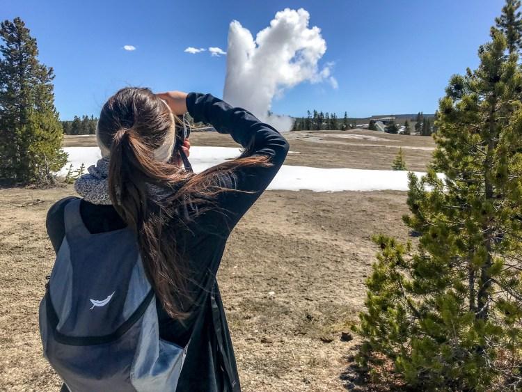 Trek Light Gear Backpack in Yellowstone National Park
