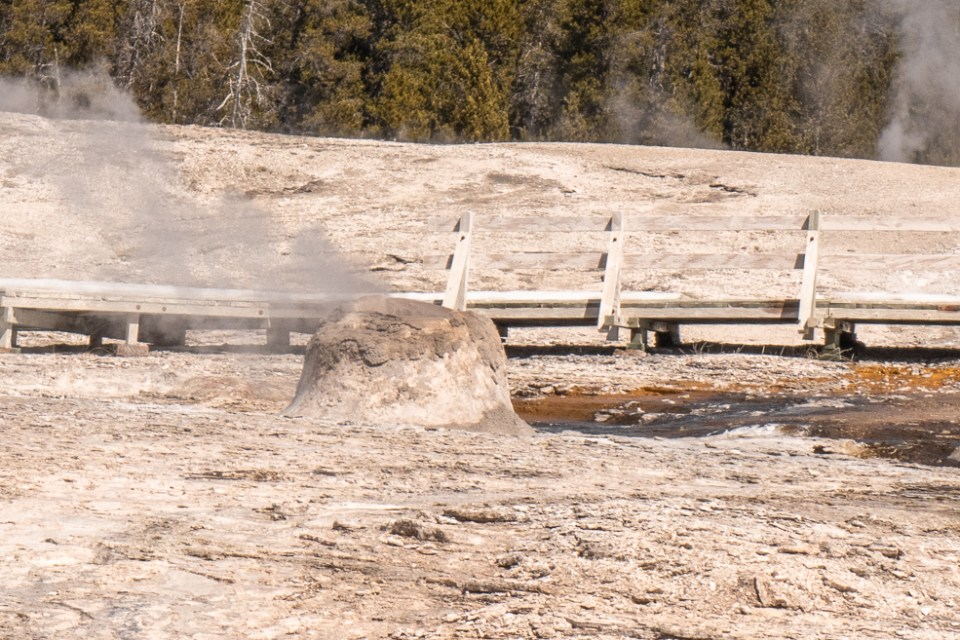 Yellowstone in April Upper Geyser Basin Beehive Geyser