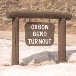 Grand Teton Road Trip Oxbow Bend Turnout Sign