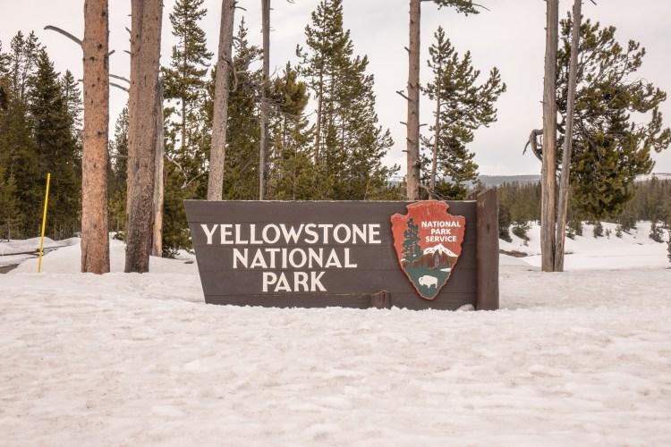 Grand Teton Road Trip - Yellowstone National Park South Entrance Sign