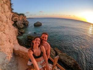Travel Photography Inspiration: Curacao Sunset Cliff