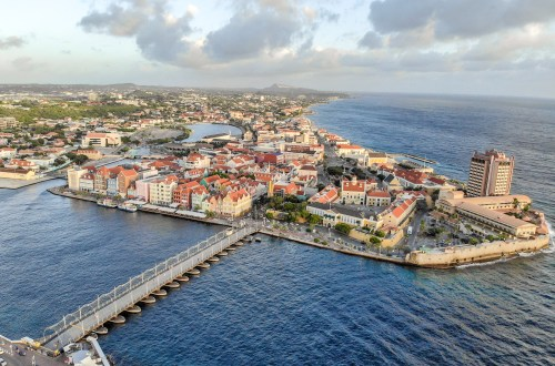 Top 10 Things to do in Curaçao Drone Photo of Willemstad Curacao