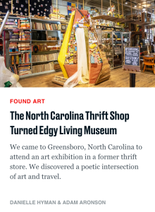 The Daily Beast Article - The North Carolina Thrift Shop Turned Edgy Living Museum