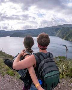 A's NorthFace Backpack - Cuicocha, Ecuador