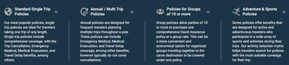Squaremouth travel insurance quote compare policies
