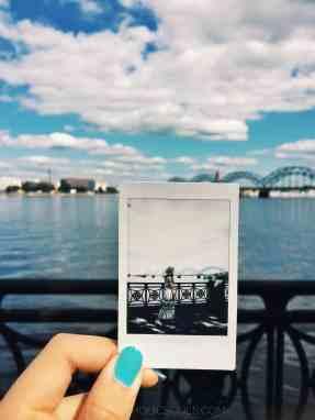 polaroid di Riga in Lettonia