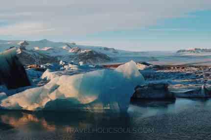 Icebearg glacier lagoon iceland