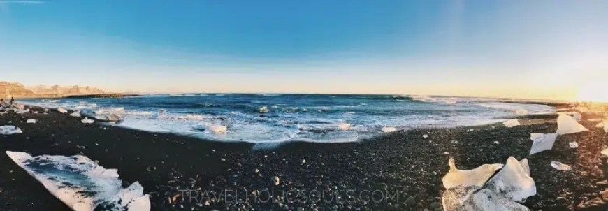pano diamond beach iceland