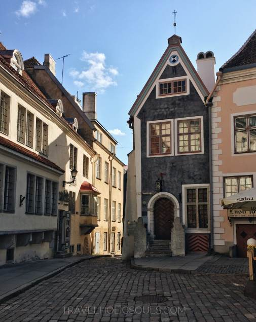 scorcio piazza centrale a Tallinn