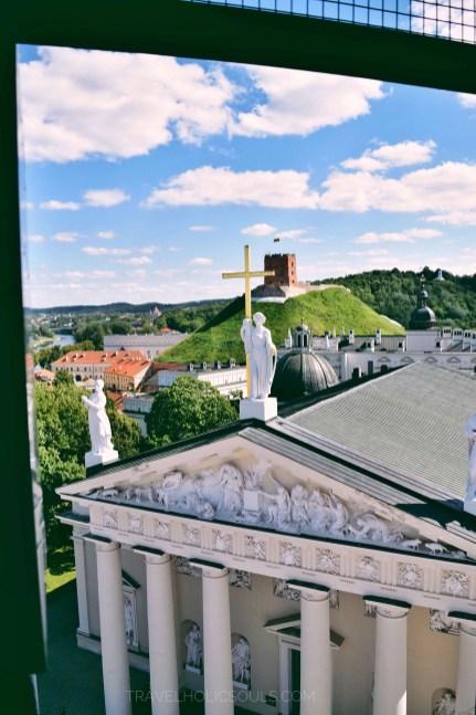 vista dalla cattedrale di Vilnius