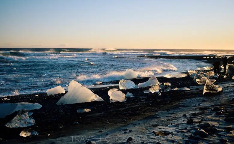 overview Diamond Beach southern cost iceland