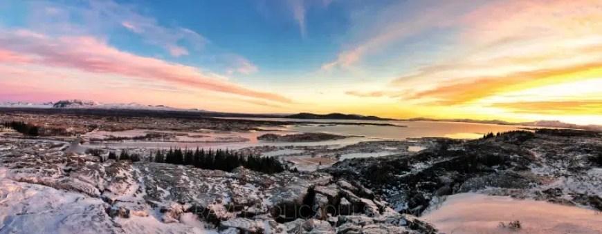 Thingvellir parco nazionale tramonto