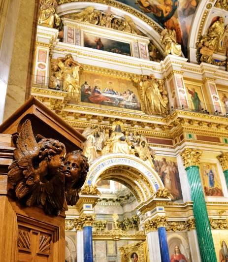 cattedrale sant'isacco San Pietroburgo interni mosaici