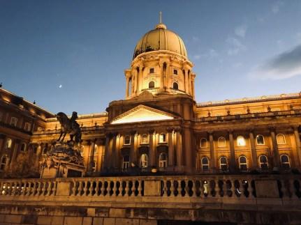 Budapest palazzo reale vista notturna